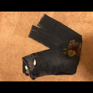Floral patch  jeans